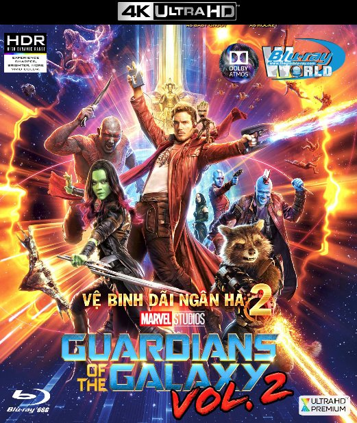 Guardians of the Galaxy Vol 2 2017 - Vệ Binh Dãi Ngân Hà 2 4K-66G (TRUE- HD  7.1 DOLBY ATMOS)